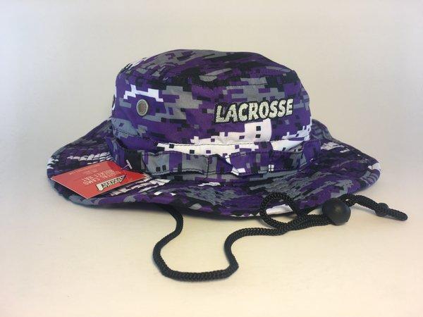 Purple Lacrosse Digital Camo Bucket Hat