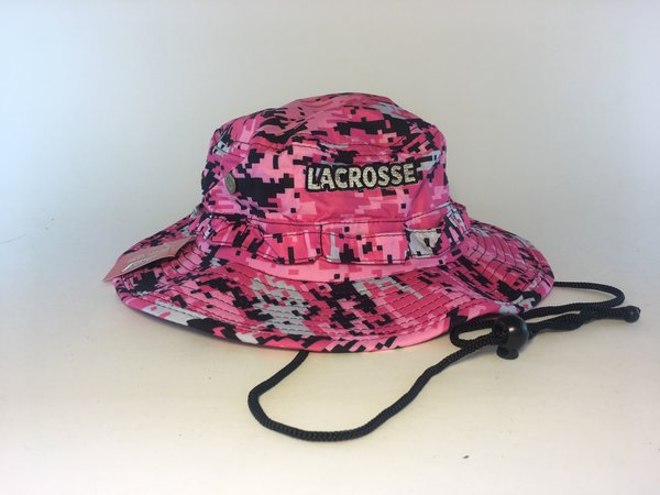 Pink Lacrosse Digital Camo Bucket Hat