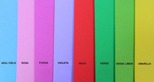 Foamy Fofuchas Colores Planos (Paquete por 10 Hojas)