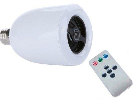 LED Light Bulb With Built-In Speaker