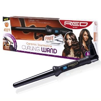 """RED BY KISS Ceramic Tourmaline Curling Wand 1 1/2"""""""