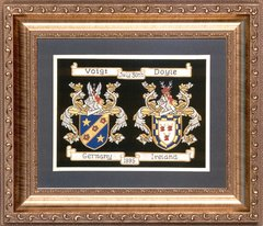 Double Hand Embroidered Coat of Arms