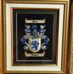 Hand Embroidered Coat of Arms - Framed