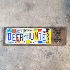 """ A Deer Hunter"" sign with Deer Bottle Opener"