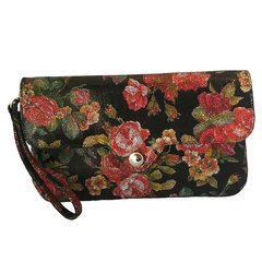 Floral Print Crush Clutch