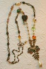 Brass Flower Garden Necklace