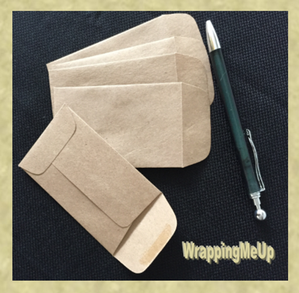 225x375 Mini Kraft Envelopes Business Card Envelopes Wrappingmeup
