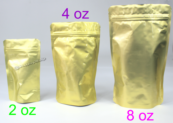 Gold Favor Boxes 4x4x4 : To oz gold poly coffee tea bags food packaging