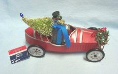 Snowman in Metal Derby Car Figurine/Tabletop Decor by Alpine Tabletop Decor
