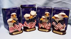 EAGLE FIGURINES: Set of (4) different Ashley Belle Eagle Figurines in Individual Boxes