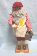 Holiday Christmas 2000 Wooden Santa Nutcracker Grandeur Noel Toy Maker with Box Limited Edition