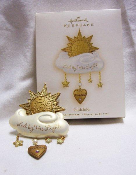 Christmas Ornament  2008 Hallmark Christmas Ornament  GODCHILD