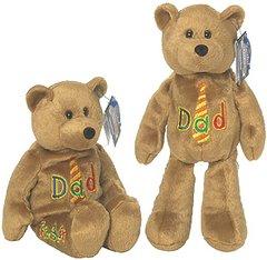 "LIMITED TREASURE BEAR - Plush Collectible 9"" Mini Dad Teddybear - LOVE 'YA DAD"
