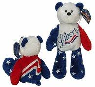 "LIMITED TREASURE BEAR - Plush Collectible 9"" Mini Patriotic Teddybear - LIBERTY"