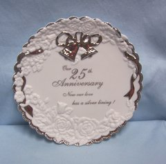 DECORATIVE PLATE: 25th Wedding Anniversary 2000 Collectible Decorative Plate by Enesco