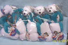 """PLUSH STATE QUARTER BEARS: 10 Discounted Limited Treasures Plush 9"""" Collectible Bears in Unopened Bag #1 State Delaware"""