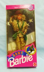 COLLECTIBLE BARBIE DOLLS: Army Barbie Doll Mattel Special Edition Stars 'n Stripes Rendezvous w/Destiny