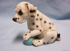 COLLECTIBLE ANIMAL FIGURINE - Collectible Dalmatian Puppy Figurine Polyresin 3 3/4""