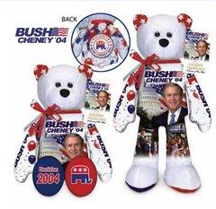 "LIMITED TREASURE BEAR - Plush Collectible 9"" Patriotic Teddybear - GEORGE W. BUSH"