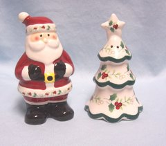 """COLLECTIBLE SHAKERS: Holiday """"Winterberry"""" Salt & Pepper Shakers by Pfaltzgraff"""