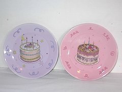 PLATES Set of (4) Avon Birthday Plates from President's Club Birthday Gift Collectible