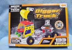 CONSTRUCTION TOY: 133 Pieces Digger Truck by Mech Tech Ages 6+