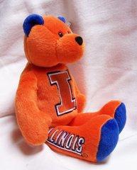"LIMITED TREASURE BEAR - Illinois University Collectible Stuffed 9"" College Mini TeddyBear"