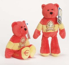 EURO COIN BEAR - SPAIN Collectible Plush 20 Cent Euro Coin Bear