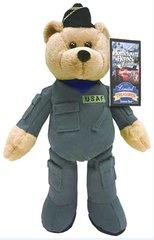 "LIMITED TREASURE BEAR: Collectible Military Plush Stuffed Air Force Bear - Guardian 9"" Teddy Bear"