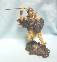 WARRIOR FIGURINE: 2007 Viking Warrior with Shield Figuinre #38014