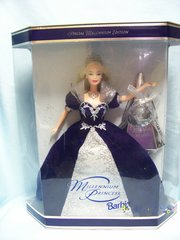 COLLECTIBLE DOLLS: Barbie Millennium Princess 2000 Keepsake Collectible Doll