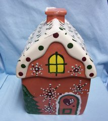 COOKIE JAR: Cute Gingerbread House Cookie Jar for the Holidays by Frankoma Designs 1999