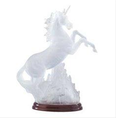 "UNICORN FIGURINE - Collectible Unicorn Multi-changing Light 10"" Polyresin #34059"