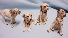 COLLECTIBLE ANIMAL FIGURINE - Set of (4) Collectible Spotted Dalmatian Dog Figurines