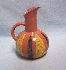 PITCHER: Ozark Pottery Pitcher Jug Souvenir Art Colony Craft Shop Lake Ozark Hand-painted