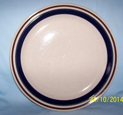 DINNER PLATES: Pair Stoneware Dinner Plates by Contemporary Chateau