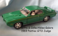 1969 PONTIAC GTO JUDGE Die-cast Car Collectible Diecast Model Car 1:24 Scale MOTORMAX