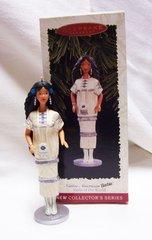CHRISTMAS ORNAMENT - 1996 Mattel BARBIE Native American Xmas ORNAMENT
