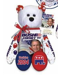 """GEORGE W. BUSH: Plush Collectible 9"""" Patriotic Teddy Bear By Limited Treasures"""