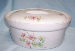 BAKING DISHES: Cordon Blue BIA Covered Oval Casserole Dish/Baking Dish with Lid Floral Design