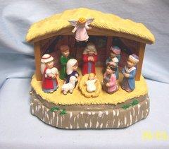 "NATIVITY SET: Unique Animated Christmas Nativity Set Plays 4 Songs 6"" H by MAISTO"