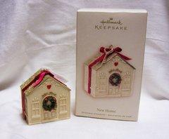 CHRISTMAS ORNAMENT - 2007 Hallmark NEW HOME Christmas Tree Ornament