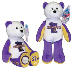 COIN BEAR #32 Minnesota State Quarter Coin Collectible Plush Bear LIMITED TREASURES