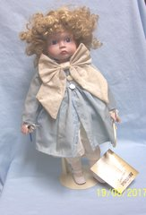 "COLLECTIBLE DOLLS: Porcelain 16"" Doll by Seymour Mann's Connoisseur Doll Collection - BETH"
