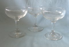 "COCKTAIL GLASSES - Set of (4) Stemmed 4 1/4"" Tall Clear Libbey Cocktail Glasses"