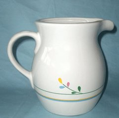 """PITCHER - Decorative Ceramic 6"""" Pitcher, Juice Syrup Container"""