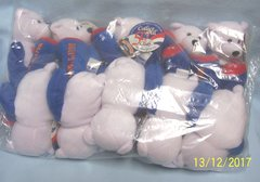 """PLUSH STATE QUARTER BEARS: 10 Discounted Limited Treasures 9"""" Collectible Bears in Unopened Bag #5 Connecticut"""