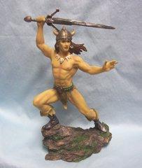 "WARRIOR FIGURINE: 2007 Viking Swordsman Warrior 9 3/4"" Tall Figuinre #38013"