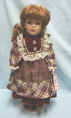 "COLLECTIBLE DOLLS: Collectible 16"" Porcelain Doll by Rose Collection - SALLY"