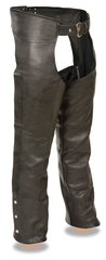 Men's Milwaukee Leather Fully Lined Premium Motorcycle Chap MLL1115